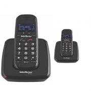 Kit Telefone Sem Fio TS 63 V + 1 Ramal Preto Intelbras