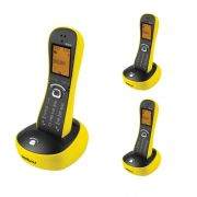 Kit Telefone Sem Fio Com Design Exclusivo TS 8220 + 2 Ramais Amarelo - Intelbras