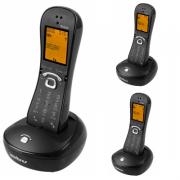 Kit Telefone Sem Fio TS 8220 + 2 Ramais Preto Intelbras
