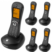 Kit Telefone Sem Fio TS 8220 + 4 Ramais Preto Intelbras
