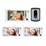 Kit Video Porteiro Color IV 7010 HF + 2 Extensões Vídeo IV 7000 HF IN Intelbras
