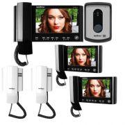 Kit Vídeo Porteiro Color IV 7010 HS + 2 Extensões Vídeo IV 7000 HS IN + 2 Extensões Áudio IV 7000 EA Intelbras