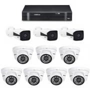 Kit CFTV DVR / NVR Stand Alone MHDX 1008 E Câmeras IPs HD VIP 1120 Intelbras