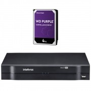 DVR Stand Alone 08 Canais 1080P LITE MULTI HD MHDX 1108 + HD 4 TB Purple Intelbras