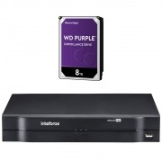 DVR Stand Alone 16 Canais 1080P LITE MULTI HD MHDX 1116 + HD 8 Teras Purple Intelbras