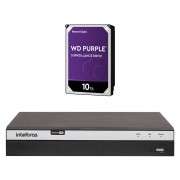Dvr Stand Alone Multi HD 04 Canais 04 Megas LITE MHDX 3104 + HD 10 Teras Intelbras