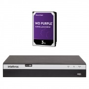 Dvr Stand Alone Multi HD 04 Canais 04 Megas LITE MHDX 3104 + HD 3 Teras Intelbras