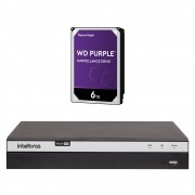 Dvr Stand Alone Multi HD 04 Canais 04 Megas LITE MHDX 3104 + HD 6 Teras Intelbras