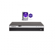 Dvr Stand Alone 08 Canais Multi Hd 4MP H.265 Mhdx 3108 + HD 3TB Intelbras