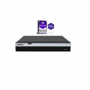 Dvr Stand Alone 16 Canais Multi Hd 4MP H.265 Mhdx 3116 + HD 4TB Intelbras