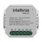Mini Controlador Smart Wi-Fi para 2 Interruptores EWS 222 Intelbras