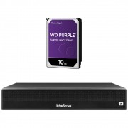 Gravador de Vídeo IP NVR 4 Canais 6 MP NVD 1304 + HD 10 Teras Purple Intelbras