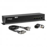 Power Balun 4 Canais 4K com Alimentação VB 3004 WP Intelbras