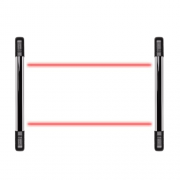 Sensor Barreira Tipo Cerca 2 Feixes 100m IVA 7100 DUAL Intelbras