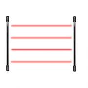 Sensor Barreira Tipo Cerca 4 Feixes 100 Metros IVA 7100 QUAD Intelbras