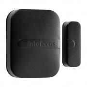 Sensor Magnético de Abertura Sem Fio de Porta e Janela XAS SMART BLACK Intelbras