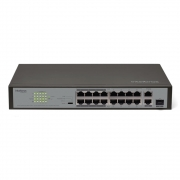 Switch 16 Portas Fast PoE + 2 Portas Gigabit + 1 Porta Mini-GBIC SF 1821 POE Intelbras
