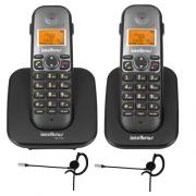 Kit Telefone Sem fio TS 5120 + 1 Ramal TS 5121 + 2 Fone HC 10 Intelbras