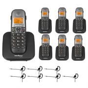 Kit Telefone sem fio TS 5120 + 6 Ramais TS 5121 + 7 Fones HC 10