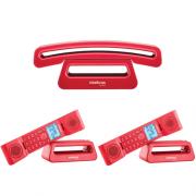 Kit Telefone Sem Fio Com Design Exclusivo TS 8520 + 2 Ramais Intelbras