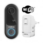 Videoporteiro Wi-Fi Atendimento Via Aplicativo Allo W3 e Campainha Sem Fio CIK 200 Intelbras