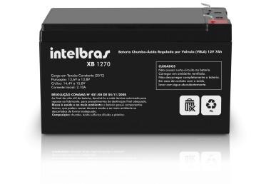 Bateria Selada de Chumbo Ácido Para Alarme 12V 7AH XB 1270 - Intelbras