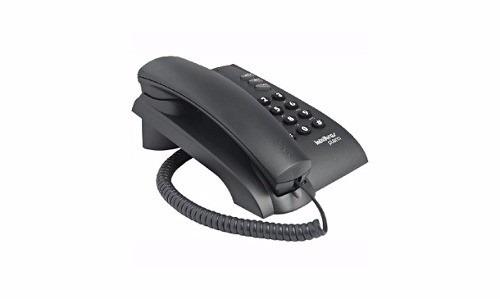 Telefone Com Fio e Chave 3 Funções Pleno Preto Intelbras