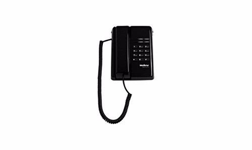 Telefone Com Fio De Mesa E Parede Intelbras Tc 50 Premium Preto