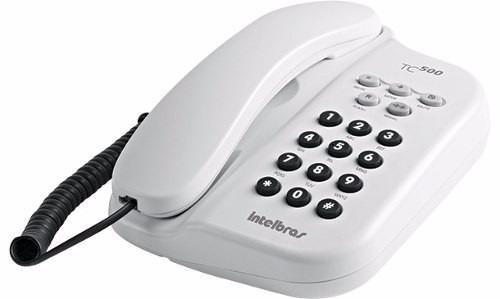 Telefone De Mesa E Parede Intelbras 5 Funções Tc 500 Branco