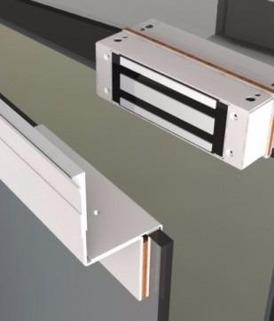Fechadura Eletroímã 12v Kt 740 12vdc Prata Fs150 Automatiza