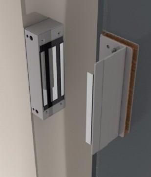 Fechadura Eletroímã 12v Kt 753 12vcc Inox Fs150 Automatiza