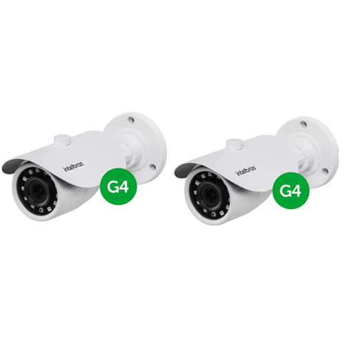 Kit CFTV  2 Câmeras AHD 1 Mega ou Analógica 20m 2.8mm VM 3120 IR G4 Intelbras