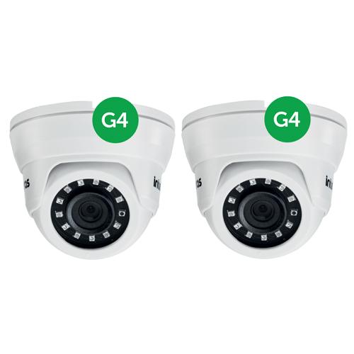 Kit CFTV  2 Câmeras AHD 1 Mega ou Analógica 20m 2.6mm VMD 1120 IR G4 Intelbras