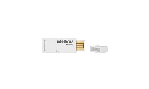 Adaptador Wireless Wi-Fi USB N 150 Mbps 15 dBm 2,4 GHz WBN 900 - Intelbras
