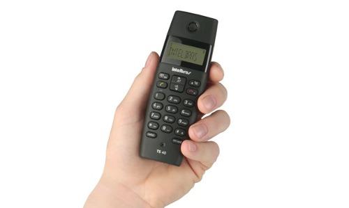 Telefone Sem Fio Identificador De Chamadas TS 40 ID Intelbras