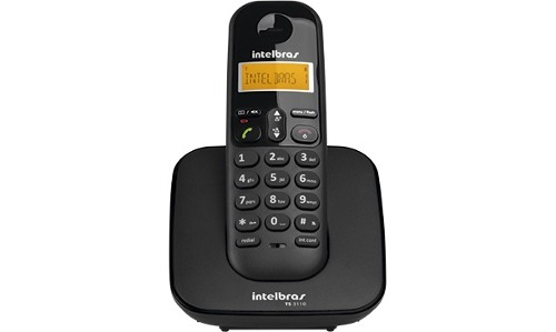 Telefone Sem Fio Com Identificador TS 3110 Preto Intelbras