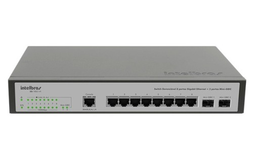 Switch Gerenciável 8 Portas Gigabit Inet SG 1002 MR Intelbras