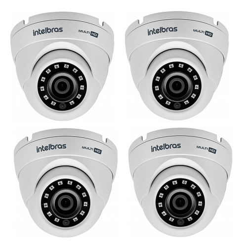 Kit CFTV 4 Câmeras Multi HD HDCVI 1 Mega 2.6 mm 20m VHD 3120 D G4 Intelbras