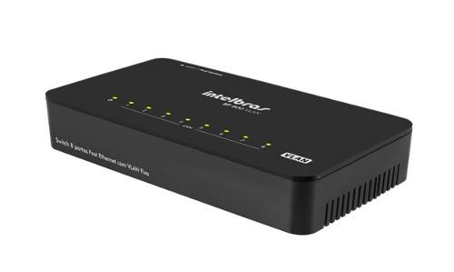 Switch 8 portas VLAN Fixa PoE passivo SF 800 VLAN Intelbras