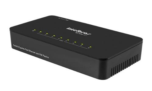 Switch 8 Portas Fast Ethernet Poe Passivo Intelbras SF 800 Q+