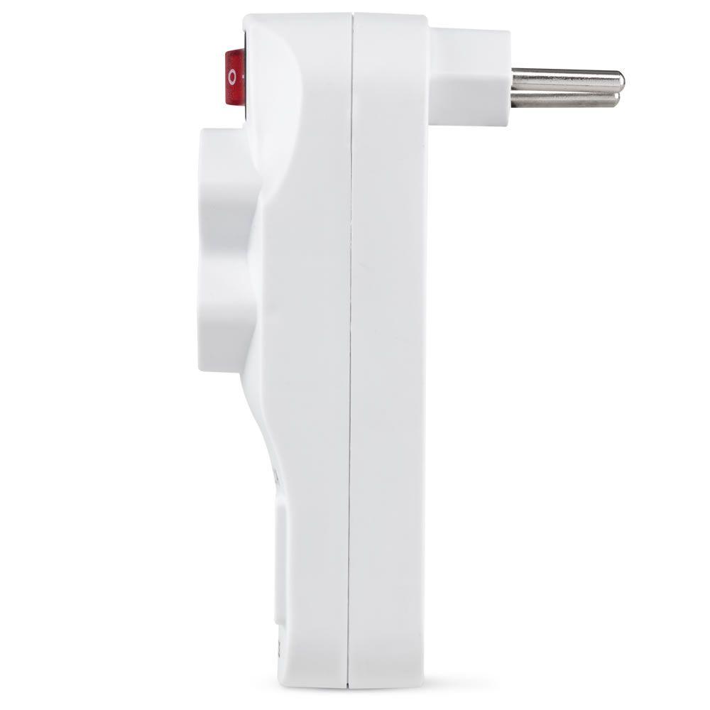 Adaptador 2 Tomadas e Carregador de 2 USB EAC 1002 Intelbras