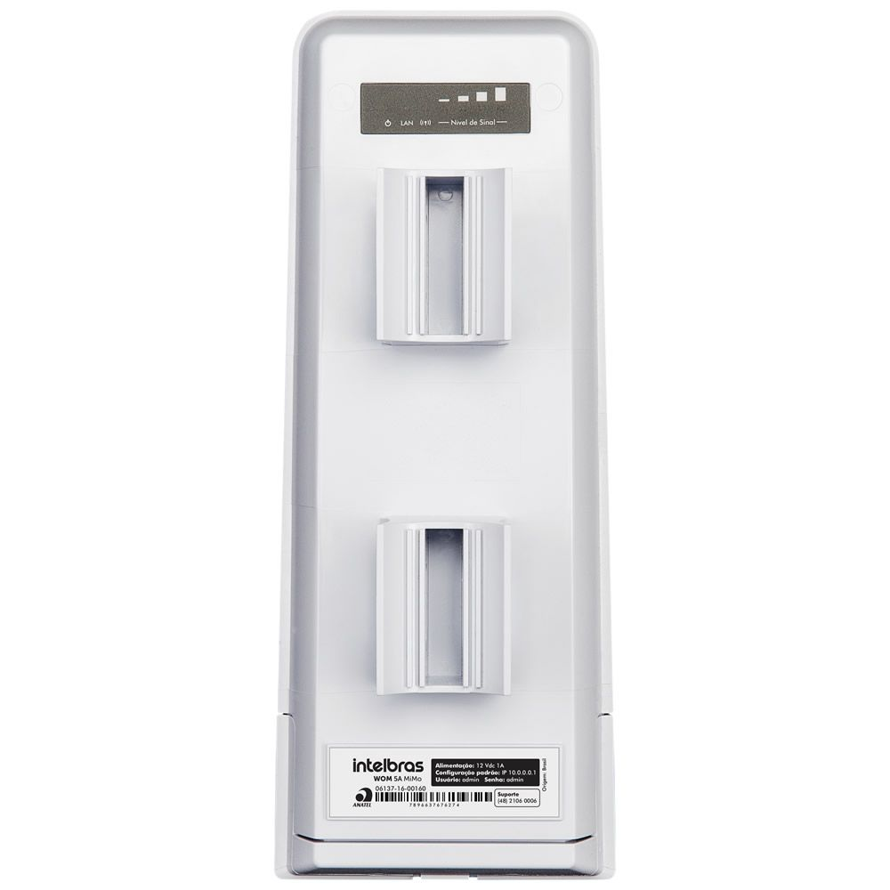 Antena Rádio Outdoor CPE 5 Ghz 16 dBi WOM 5A Mimo Intelbras