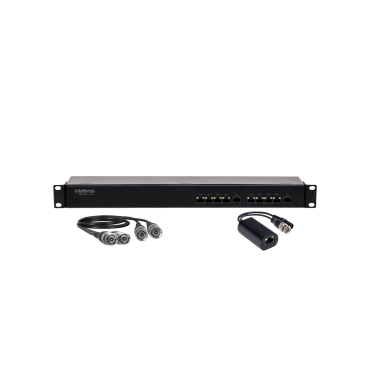 Balun Passivo 8 Ch Vídeo E Alimentação Intelbras VBP A08C Full HD