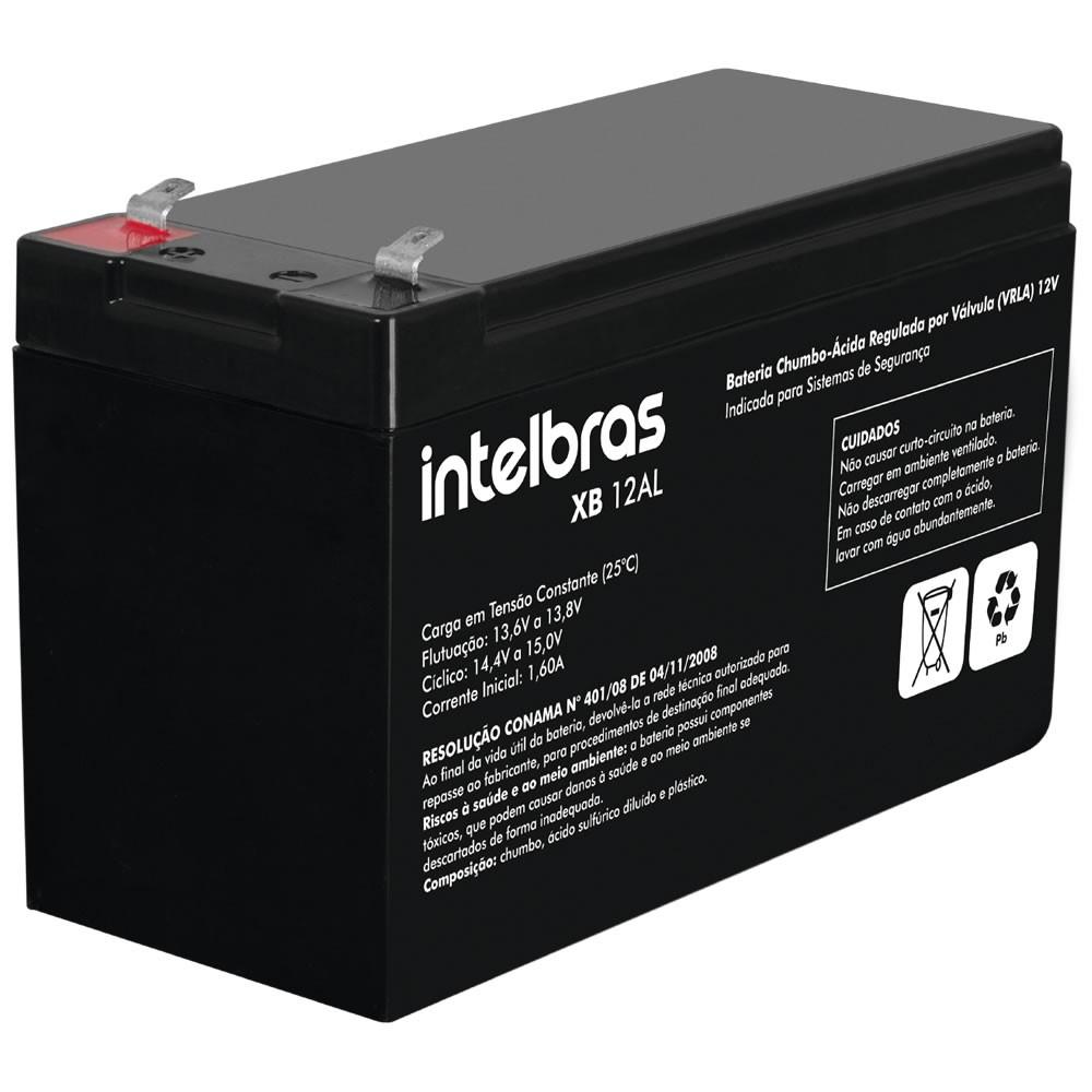 Bateria Selada de Chumbo Ácido Para Alarme 12V 6AH XB 12 AL - Intelbras