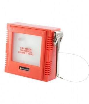Caixa Quebra Vidro Chave NF 12 VCC Automatiza