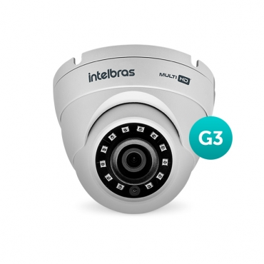 Câmera Multi HD 600 Linhas 3.6mm 20m VHD 3220 D G3 Intelbras