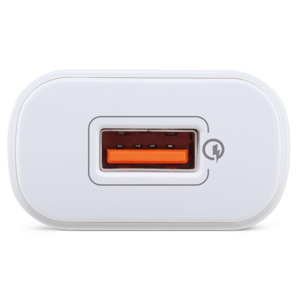 Carregador USB  Qualcomm Quick Charge EC 1 Quick Branco Intelbras