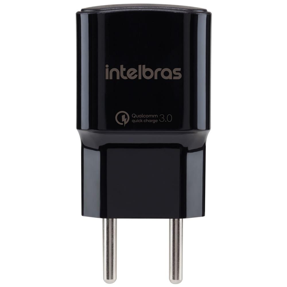 Carregador USB  Qualcomm Quick Charge EC 1 Quick  Preto Intelbras