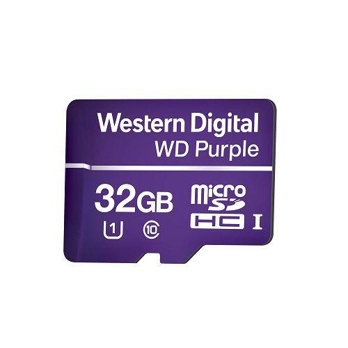 Cartão de Memória 32 GB Micro SD WD Purple Intelbras