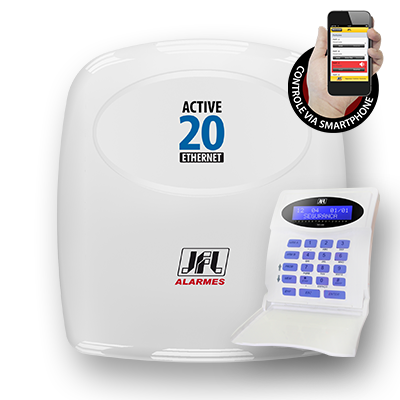 Central de Alarme Monitorável 22 Zonas Active-20 Ethernet JFL